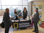 Conference participants discussing National Geographic's latest and greatest..